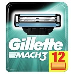 Hojas de afeitar reemplazables para hombres Gillette Mach 3 cuchilla de afeitar 12 Uds casetes de Mak3 cartucho de afeitado Mach3