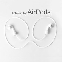 For AirPods Silicone Anti-lost Neck Strap Wireless Earphone String Rope Headphone Cord Earphone For Air Pods Pro Accessory