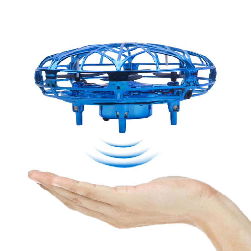 Kids Toys Electronic Flying Helicopter Mini Drone  UFO Quadcopter RC Helicopter Aircraft Hand Flashing Control Toys For Children