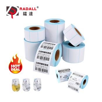 Wysokiej jakości 30 ~ 100mm termiczna etykieta druku papieru papier fotograficzny do naklejki kodów kreskowych etykiety klej do termiczna drukarka etykiet tanie i dobre opinie RADALL Przewodowy bezprzewodowy Thermal Label maker Thermal Label Sticker 30~100mm Czarny i biały Instrukcja 30ppm 100-240 v