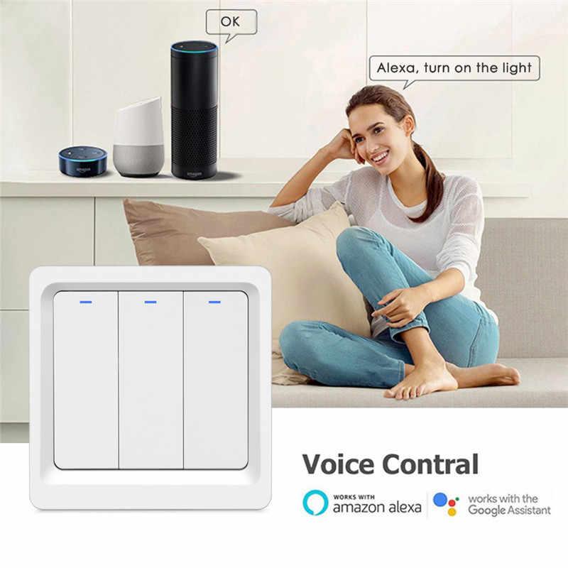 Светильник для умного дома с Wi-Fi, кнопка включения Smart Life/Tuya, дистанционное управление через приложение, работает с Alexa Google Home для голосового управления
