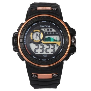 цена на Men Sports Digital Waterproof Watch Men's Boy LCD Digital Stopwatch Date Rubber Sport Wrist Watch Relogio Masculino Digital Gift