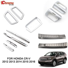 Per Honda CR-V CRV 2012 2013 2014 2015 2016 Anteriore Chrome Cruscotto Air Vent Della Copertura Trim Sticker Stampaggio Car Styling accessori(China)