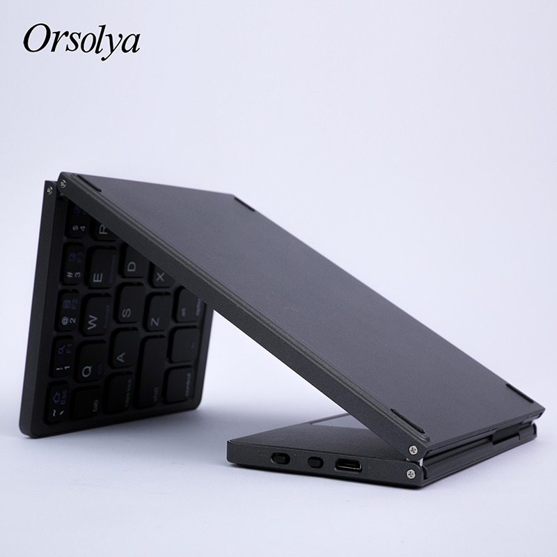 Mini Folding Keyboard Bluetooth Foldable Wireless Keyboard with Touchpad ,Rechargeable,For Android/Windows/ios Tablet phone ipad image