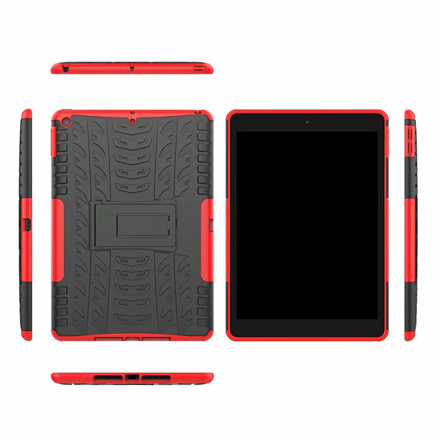 iPad Cover Rugged Shockproof Film--Pen TPU Armor-Case Apple 7th/A2200/A2198 TPU PC for