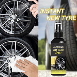 General Car Wheel Cleaner Agent Tire Shine Polish Spray Car Motorcycle Tire Bright Remove Rust Liquid Cleaning Agent TSLM1