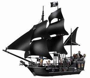 Черный жемчуг корабль королева Анны мести Пираты Карибского моря кирпичи Lepinblock Пираты корабль лодка модель строительные блоки подарки игр...
