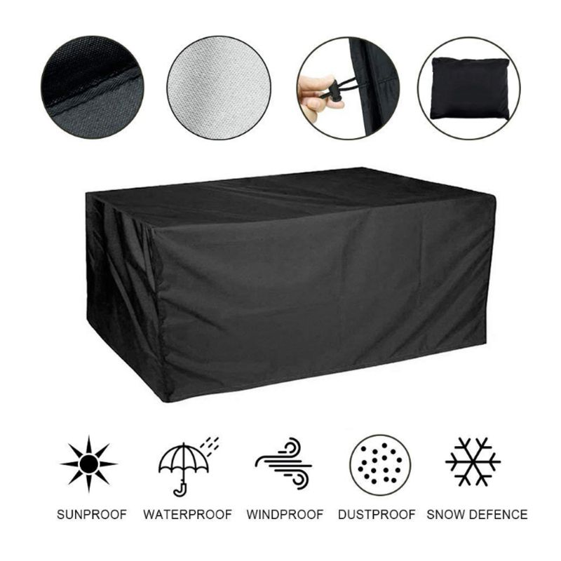 210D Oxford Dustproof Cover for Table Rattan Chair Furniture Outdoor Waterproof Rain Garden Patio Sofa Protective Holder 37MD