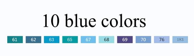 10 blue colors