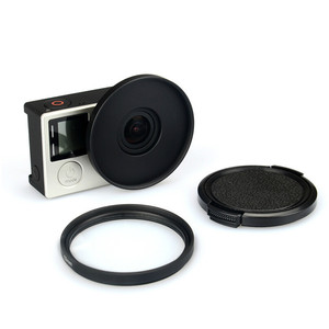 Image 1 - UV Lens Filter 52mm + Alloy Adapter Ring + Lens Cap Protector for Gopro Hero 3 3+ 4 Accessories Set
