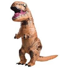 Dinosauro gonfiabile Del Partito Del Costume Per Adulti Per Bambini Dinosaur Jurasic Del Mondo Costume di Halloween per le Donne i bambini Cosplay Del Costume Della Mascotte