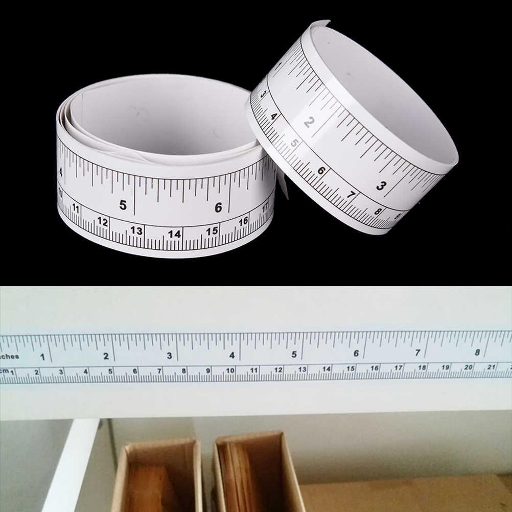 ויניל מטרי למדוד רך שליט קלטת DIY דבק עצמי מדידת קלטת שליט מדבקת בית תפירת כלי אביזרי 45/90cm