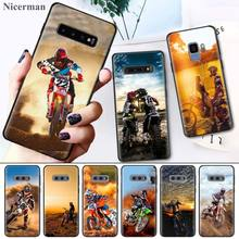 Case Cover Coque for Samsung Galaxy S8 S9 S10 S10e 5G Note 8 9 10 Plus S7 Edge S8+ S9+ S10+ Moto Cross Motorcycle Sports
