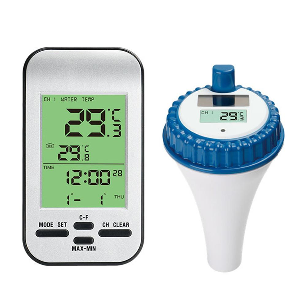 Беспроводной термометр для бассейна, небольшой плавающий аквариум, водонепроницаемый цифровой термометр с ЖК дисплеем для ванны, воды и спа|Приборы для измерения температуры|   | АлиЭкспресс