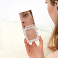 Portable beauty mirror Fill light network red live with light Makeup mirror girl creative cute mobile power