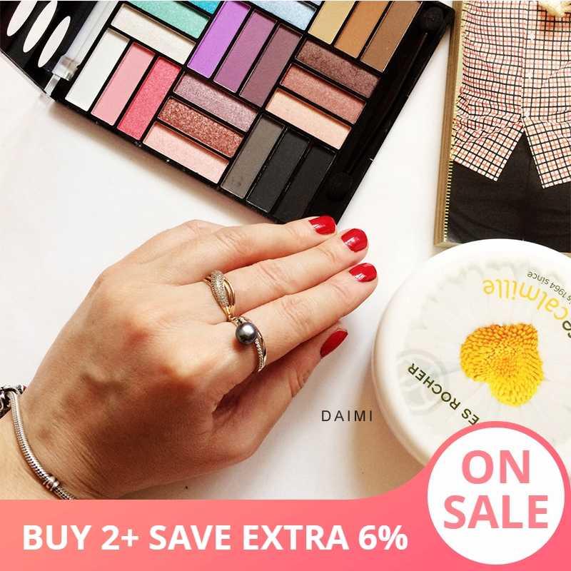 DAIMI кольцо 7-8 мм пресноводное жемчужное кольцо 6 цветов модный милый подарок для женщин 925 серебряное кольцо