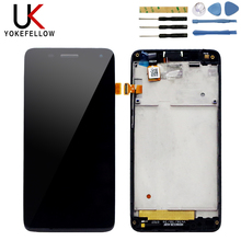цена на UK 4.7 For Lenovo S660 LCD Display Touch Screen Digitizer Glass Sensor Assembly Replacement Parts For lenovo S 660 Display