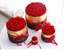 Eternal Rose in Box Preserved Real Rose Flowers with Box Set The Best Mother's Day Gift Romantic Valentines Artificial Flowers