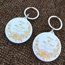 50 pces personalizado nome data chaveiro com espelho personalizado favores de casamento e presentes presentes de casamento para convidados lembranças de casamento