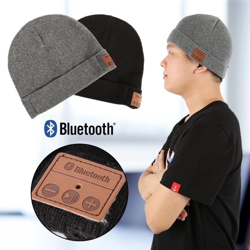 Winter Warm Knitting   Beanie   Hats Women Men Unisex Wireless Bluetooth Smart Cap Headset Headphone Speaker Mic Bluetooth Hat NS