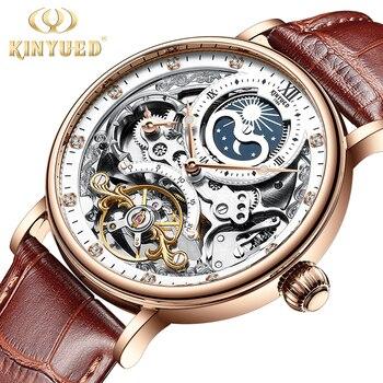 black Automatic watch men Tourbillon hollow out luminous wristwatch 1