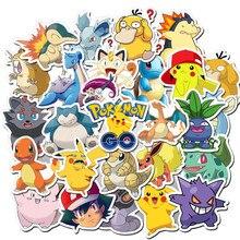 50 pçs pokemoner adesivos anime dos desenhos animados à prova dwaterproof água engraçado adesivo bomba para scrapbook telefone portátil skateboar decalque crianças reword brinquedos
