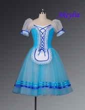 Free Shipping!Blue Giselle Ballet Tutu Pink Romantic Purple Long Costume Yellow Classical Dress Girls
