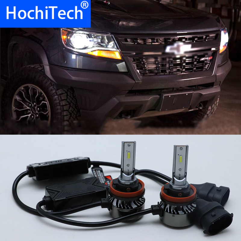 2pcs Super Bright 55W 6000K White H11 Car HeadLight Lamp For 2015-2018 Chevrolet Colorado Low Beam Car Styling