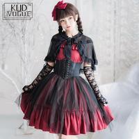 Jsk Gothic Black Veil Lolita Strap Dress Japanese Comic Con Women Cosplay Lolita Costumes Fairy Kei Medieval Dress Long Dress