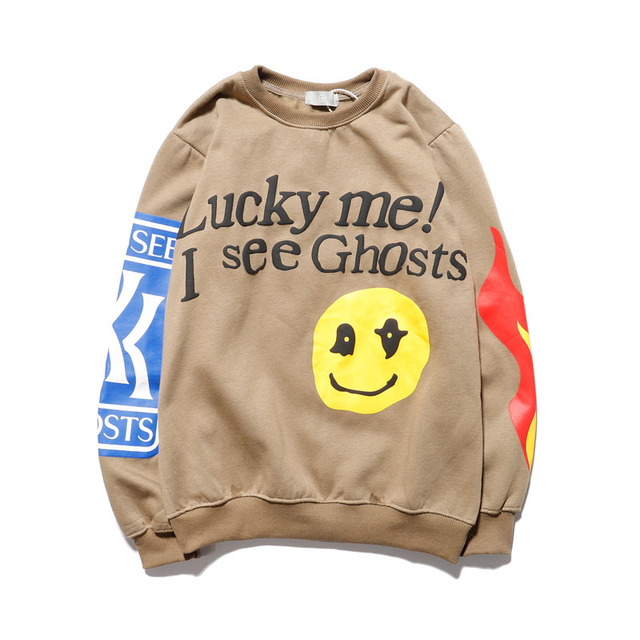"""Kanye West """"Lucky Me I See Ghosts"""" Hoodies  5"""