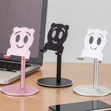 Universal Mobile Phone Desktop Stand Cartoon Lazy Tablet Stand Bracket Aluminum Alloy Holder For iPhone iPad Xiaomi Samsung цена и фото