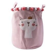Nowość składany kosz na pranie Cartoon kosz w kształcie beczki do przechowywania stojące zabawki kosz do przechowywania ubrań pralnia organizer etui gospodarstwo domowe w Kosze na pranie od Dom i ogród na