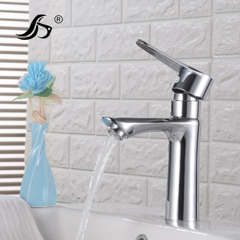 Basin Single Bore Leading Wash Basin Faucet Hot And Cold Bathroom Cabinet Ceramic Basin Faucet Wash Basin Hot And Cold Faucet