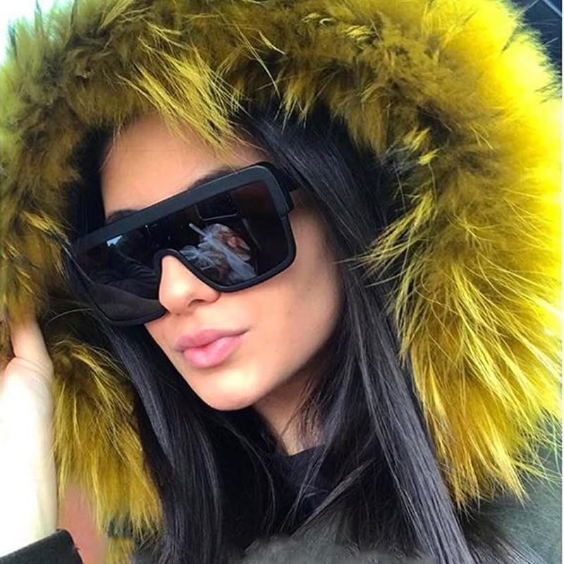 MIZHO 2020 Oversized Square Polarized Sunglasses For Women Luxury Brand Fashion Man Tinted Quality Sunglass Men Celebrity Trendy