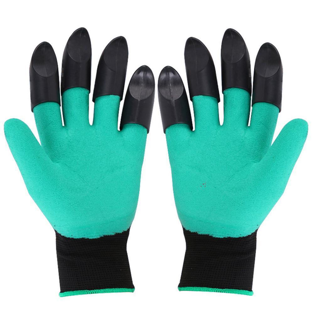 ABS Plastic Garden Rubber Gloves Gardening Digging Planting Durable Waterproof Work Glove Outdoor Gadgets