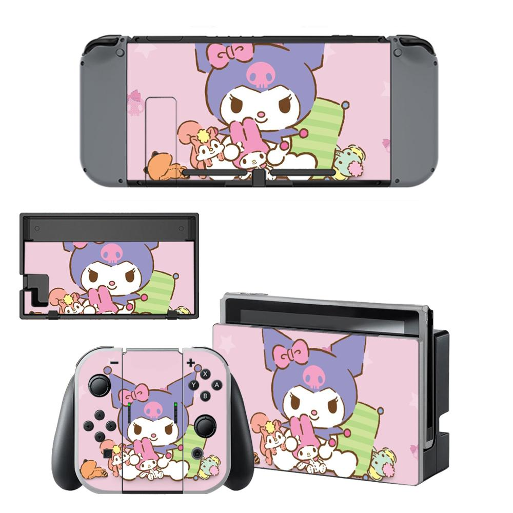 Sanrio Kuromi Nintendo Switch Skin Sticker NintendoSwitch Stickers Skins For Nintend Switch Console And Joy-Con Controller