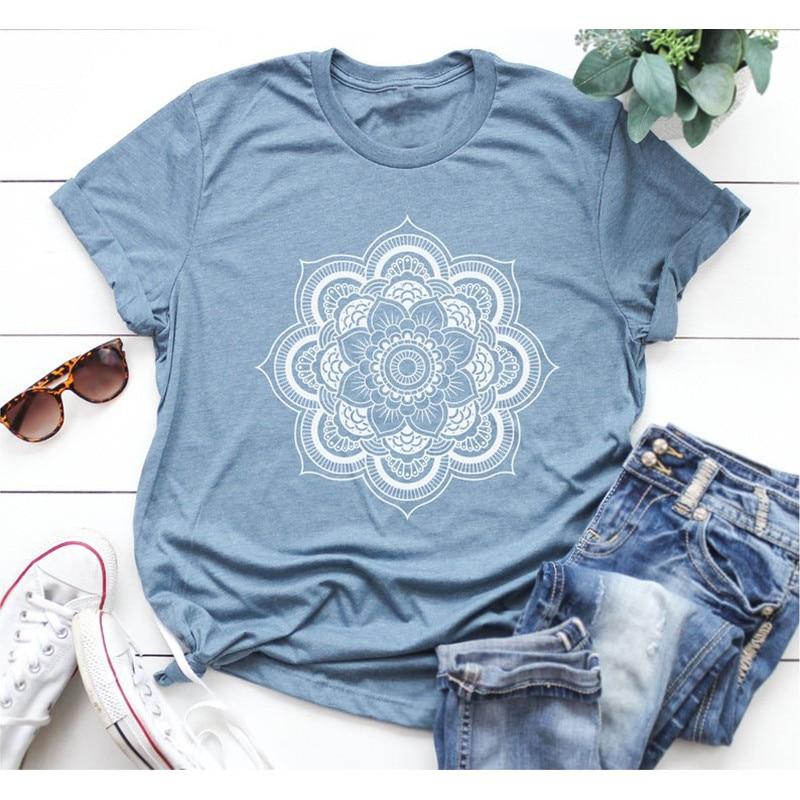 Women Floral Print Short Sleeve Tee Shirts Summer O Neck Casual Tshirts 2020 New Fashion Plus Size 5XL T Shirt Tops Tees Mujer 2