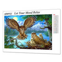 5D Full Diamond Painting Full Square/Round New Arrival Owl Diamond Embroidery Cross-stitch Animal Pictures Of Rhinestones