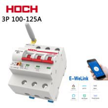 цена на HOCH 3P Smart Wifi Circuit Breaker 100A/125A Antenna enhancement Remote Control Timing Switch Delay Set Function Automatic Lock
