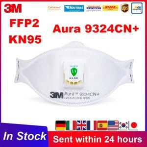 FFP2 3M Aura 9324 9324CN poussière réutilisable KN95 masque anti-poussière brume météo avec Valve Aura particules respirateur 3M 9332 masques