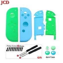 JCD carcasa de plástico de repuesto para Nintendo Switch NS, Joy Con destornillador de agarre de pulgar Animal Crossing