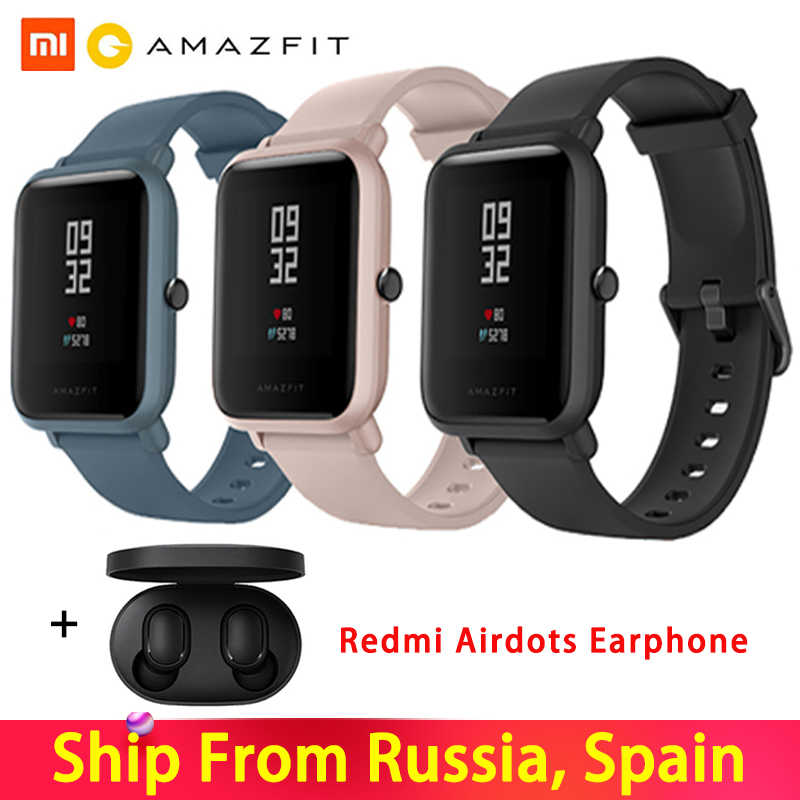 Versi Global Amazfit Huami Bip Lite 2 Asli Smart Watch GPS 45 Hari Baterai Gloness Denyut Jantung Huami Smart Watch
