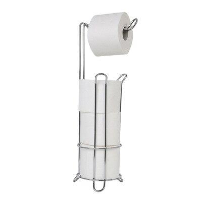 Iron Large Stand Toilet Paper Holder Tissue Roll Rack Bathroom Storage Container Bath Accessories Kitchen Organizer Freestanding