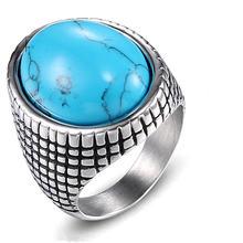 Мужское Винтажное кольцо из нержавеющей стали с изображением