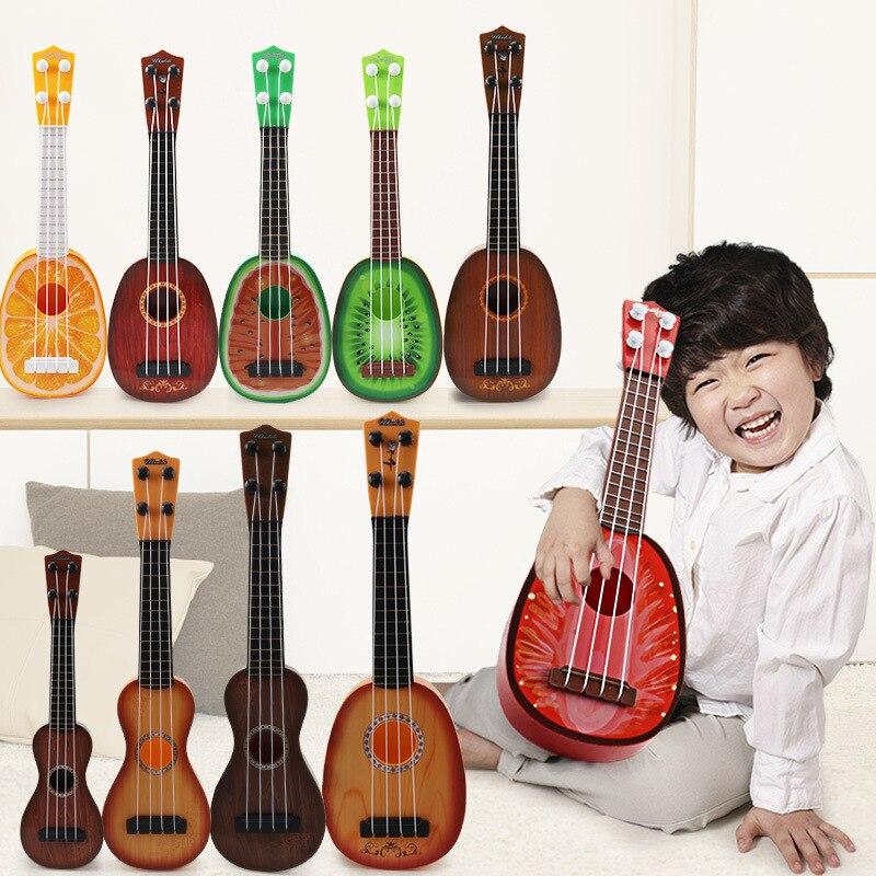 Children's Simulation Ukri DIY Hand Playing Mini Guitar Lute Musical Instrument Toy
