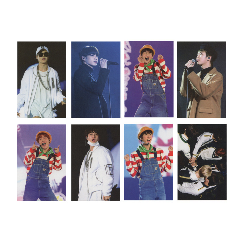 7pcs/set Kpop Bangtan Boys Photocard Album Poster HD Photo Card For Fans Collection KPOP Bangtan Boy Photocards New Arrivals