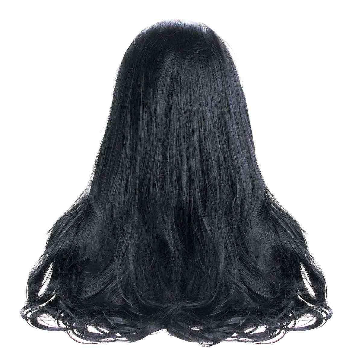 """Бесклеевая кружевная передняя часть человеческих волос парики Полный парик 24 """"Женский тела предварительно сорванный волнистый парик с черными волосами Hairline Dream beauty"""