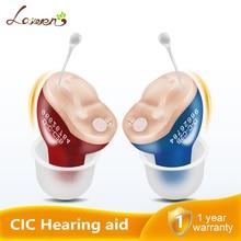 ホット販売見えない補聴器ポータブルスモールミニデバイス補聴器左/右耳サウンドアンプドロップシッピング