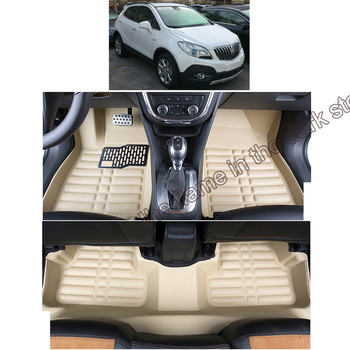 lsrtw2017 leather car floor mats for buick encore opel mokka  x 2010 2011 2009 2012 2013 2014 2015 2016 2017 2018 2019