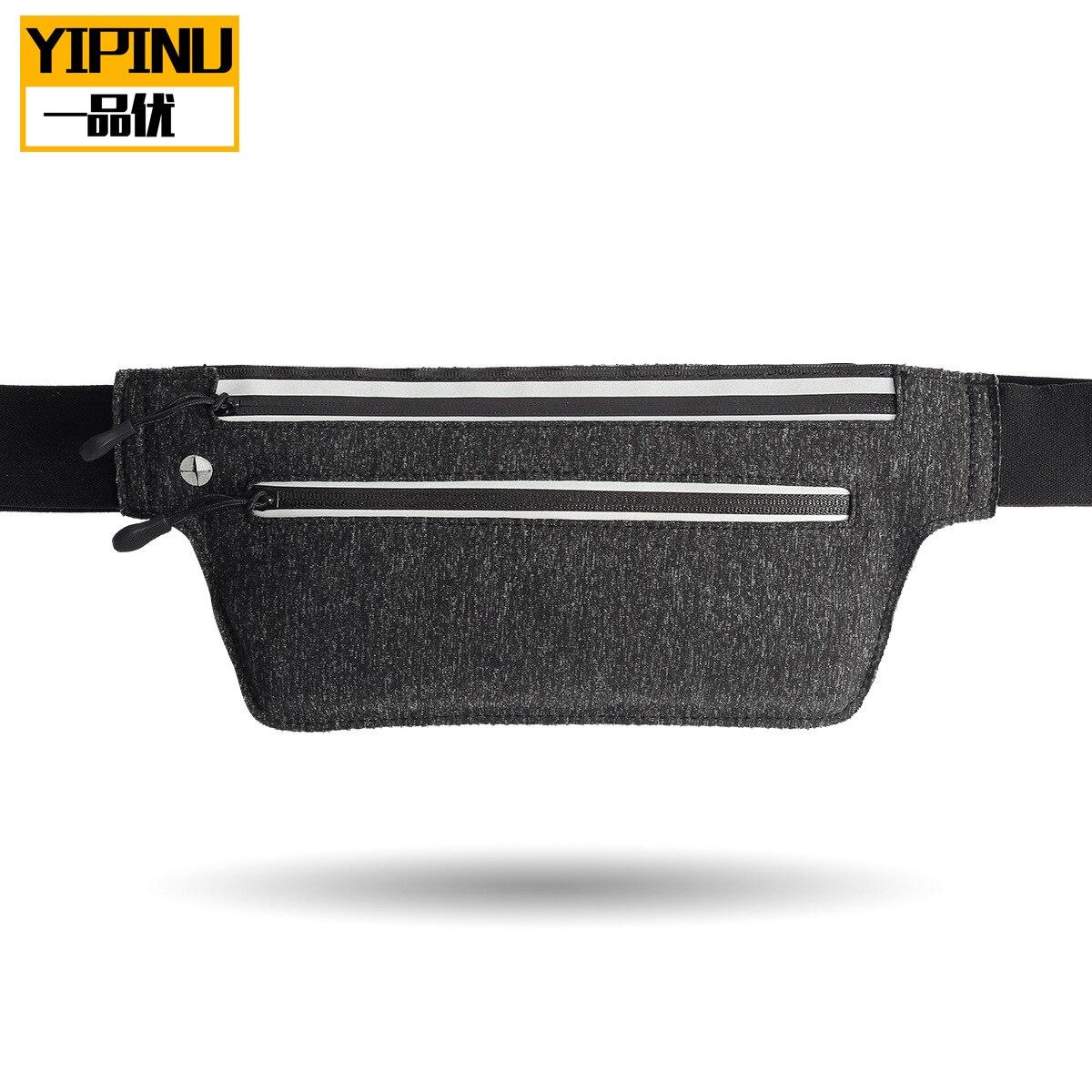Yipinu Outdoor Sport Waist Bag Light Body Hugging Belt Waterproof Phone Bag Unisex Running Mountain Climbing Sports Bag